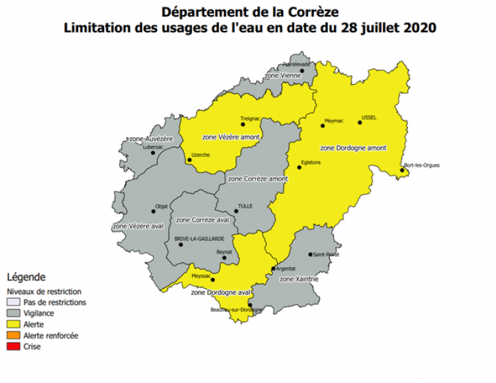 RESTRICTIONS USAGES DE L'EAU