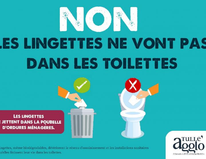attention aux lingettes